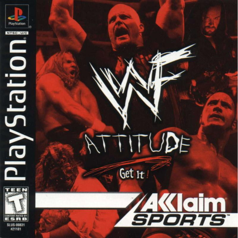 WWF Attitude - PlayStation 1 PS1 Game Complete - YourGamingShop.com - Buy, Sell, Trade Video Games Online. 120 Day Warranty. Satisfaction Guaranteed.