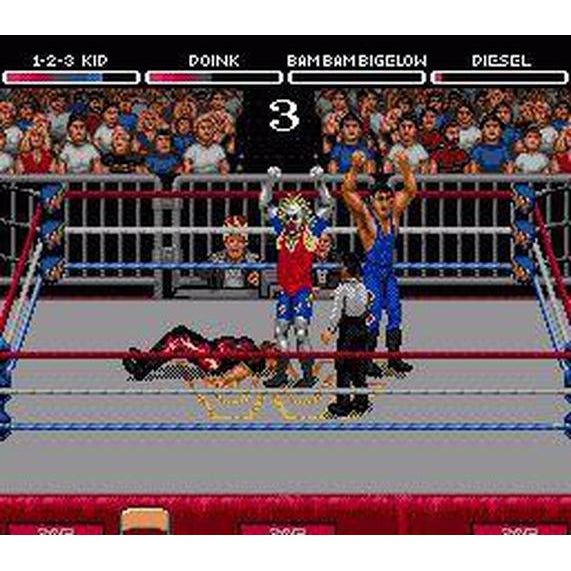 WWF Raw - Sega Genesis Game Complete - YourGamingShop.com - Buy, Sell, Trade Video Games Online. 120 Day Warranty. Satisfaction Guaranteed.