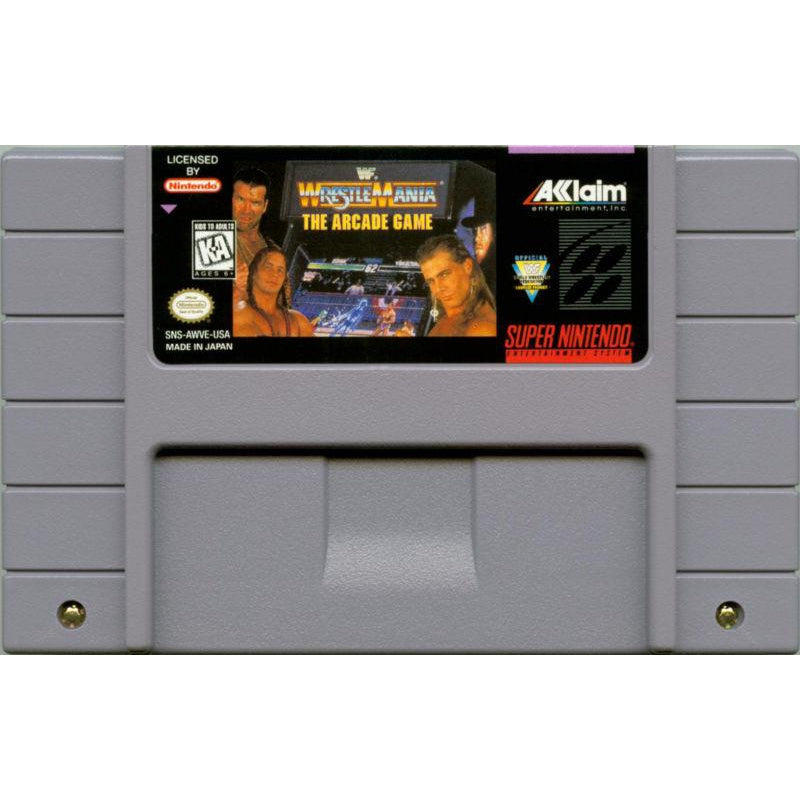 WWF WrestleMania: The Arcade Game - Super Nintendo (SNES) Game Cartridge - YourGamingShop.com - Buy, Sell, Trade Video Games Online. 120 Day Warranty. Satisfaction Guaranteed.