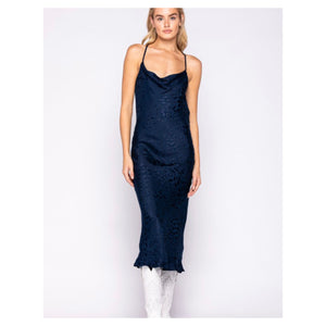 Reba Midi Length Silk Dress