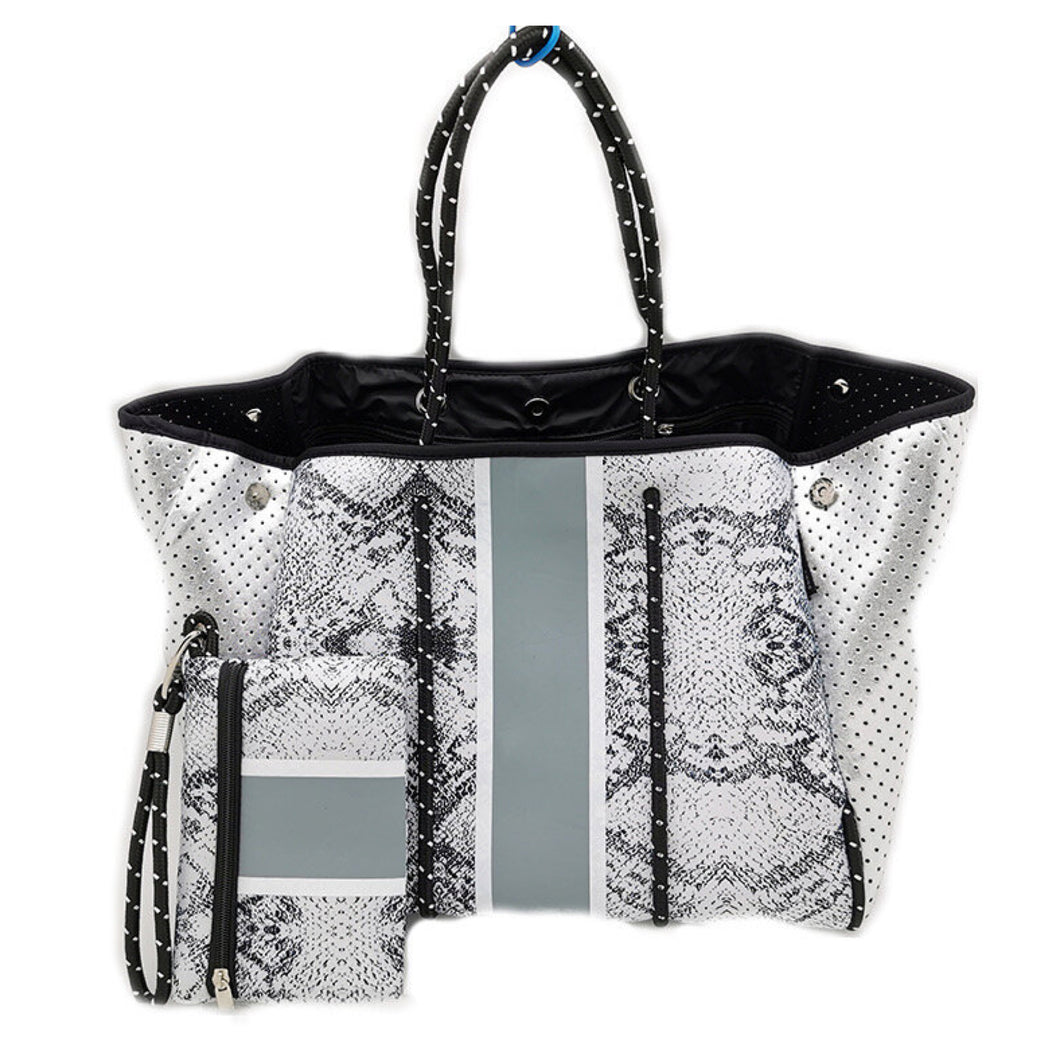 Neoprene Tote Python with Metallic