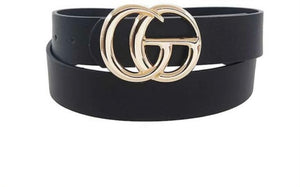OG Black GG Inspired Belt