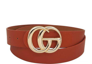Cognac GG Inspired Belt