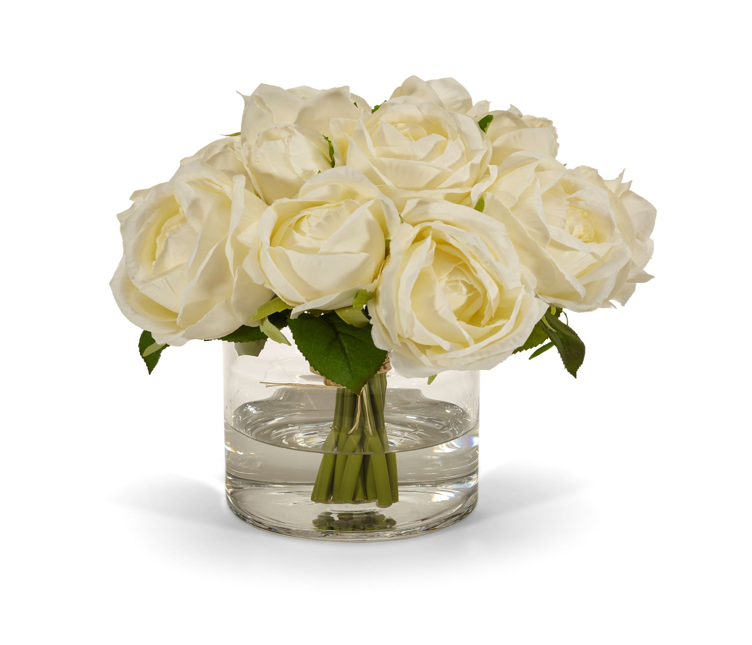 Rose Bouquet in Clear Glass Vase