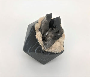 Black Marble Like Pentagon - Smokey Quartz
