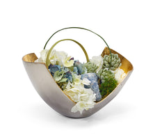 Load image into Gallery viewer, Hydrangeas in Mixed-Metal Scoop