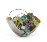 Hydrangeas in Mixed-Metal Scoop