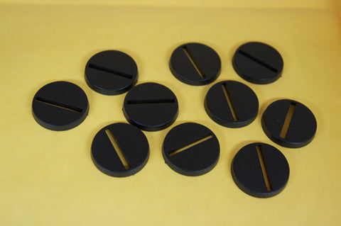 25mm Slotted Bases (10)