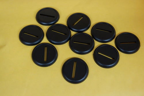 30mm Lipped Slotted Bases (10)