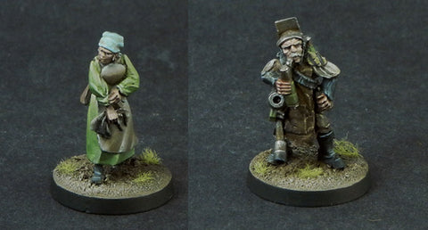 Miner and Medic Civilians (2 Pack)