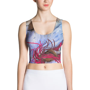 Sapphic Tide Sublimation Cut & Sew Crop Top
