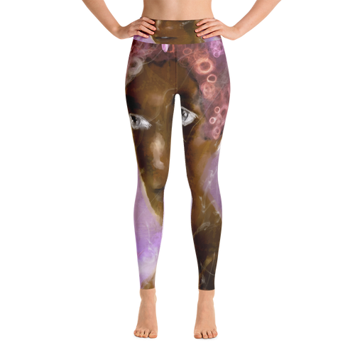 Untitled Portrait # 1  Yoga Leggings