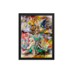 """ Four New Goddesses "" Framed photo paper poster"