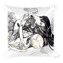 The Lovers No 1 Square Pillow