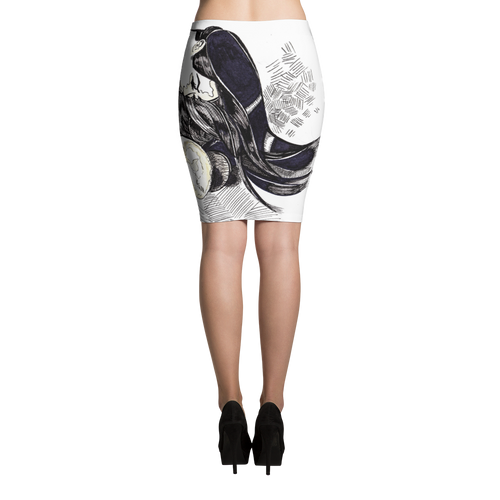 The Lovers No 1 Pencil Skirt
