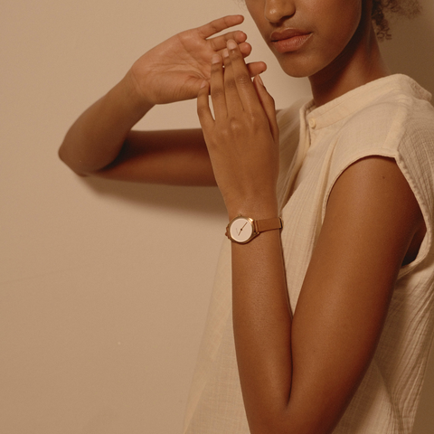 minimalist watches women with smaller face mini lune by nacre watches
