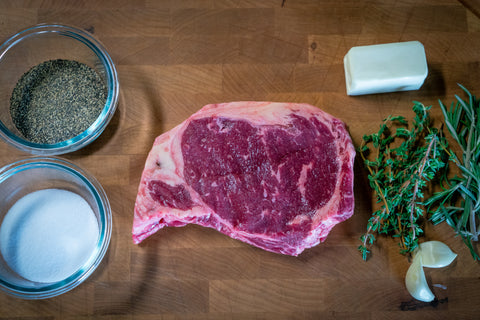 New York Strip prep for Cast Iron Skillet cook on Stovetop