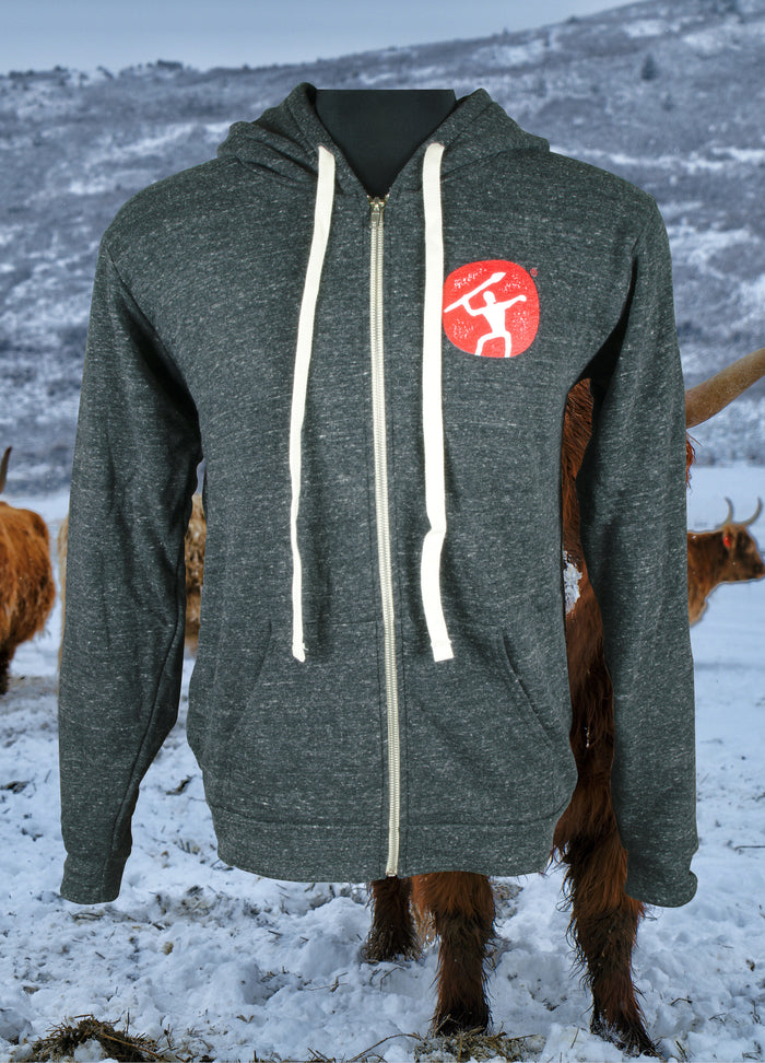 Charcoal Grey Mountain Primal Hoodie