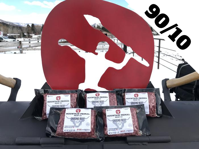 Mountain Primal's 90/10 Ground Beef Stockpile Package