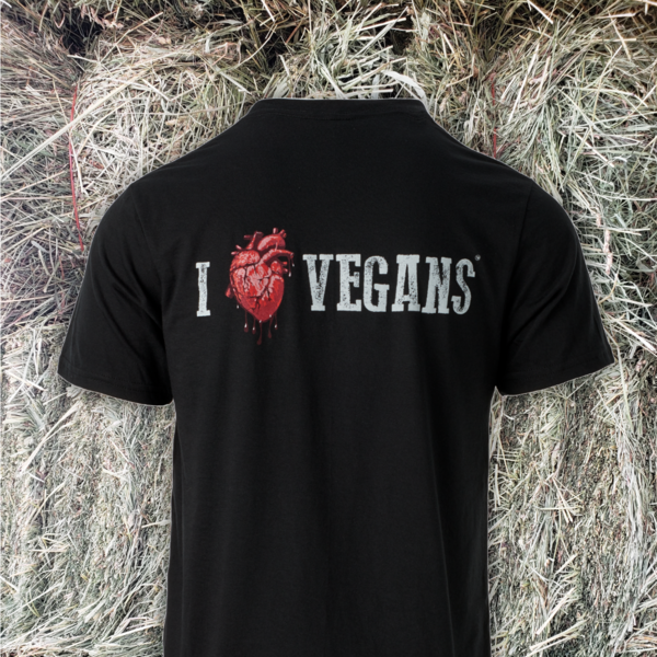 I Love Vegans Black Tee