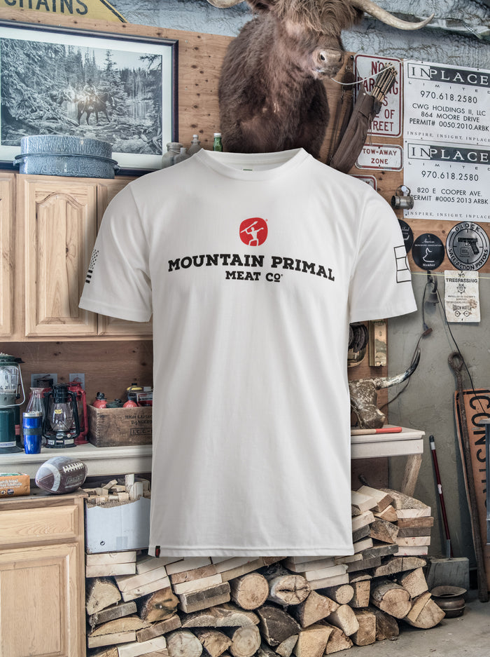 Mountain Primal White Tee