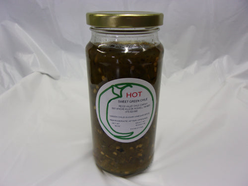 Sweet Green Chile Hot 16 oz