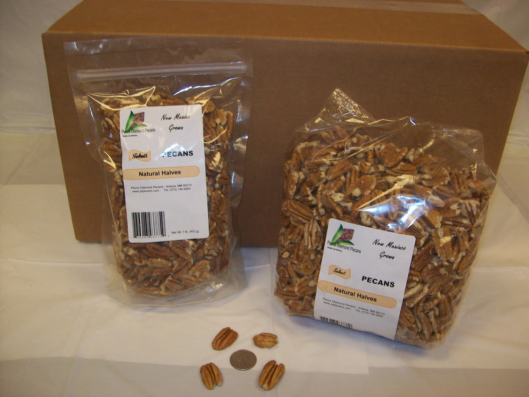 Select Natural Pecan Halves CLEARANCE