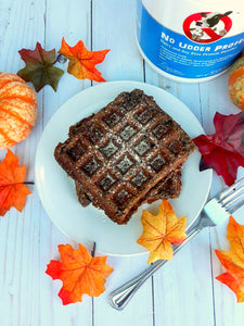Chocolate Pumpkin Protein Waffles