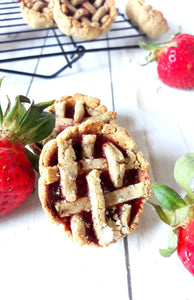 Strawberry Pie Protein Cookies