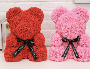 Valentines Rose Bear 8in - Bundle of 2
