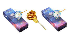 2 Galaxy Rose + 1 Gold Rose
