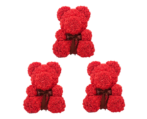 Valentines Rose Bear - Bundle of 3
