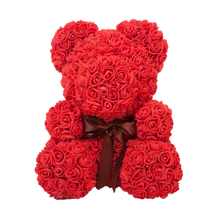 Memory Box + 8in Red Rose Bear + Galaxy Rose