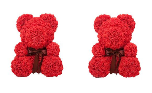 Mother's Day Rose Bear 8in - Bundle of 2