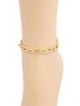 Riri Layered Mix Chain Link Anklet Set - Gold
