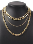 Unchained Multilayer Choker Necklace - Gold