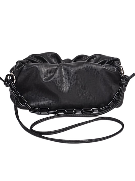 Unbothered Faux Leather Bag W/ Chain