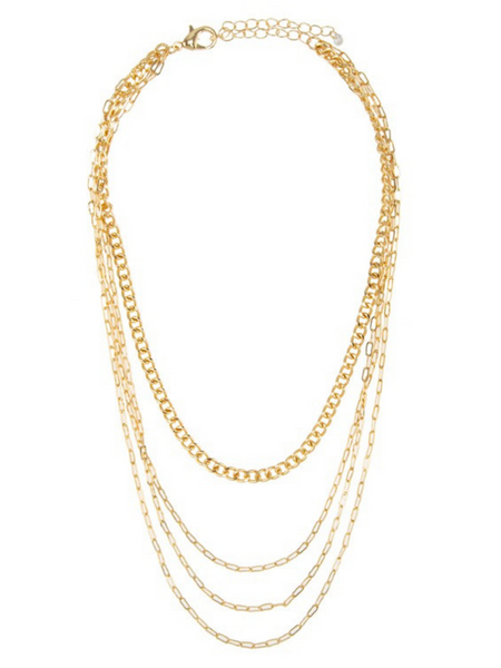 Something Real Multilayer Chain Necklace