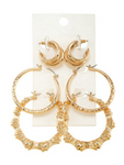 Gold Coast Hoop Earring Set - Gold