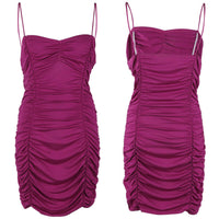 For The Night Ruched Mini Dress - Purple