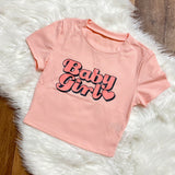 Baby Girl Short Sleeve Tee - Apricot