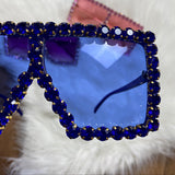 Elite Status Rhinestone Oversized Sunglasses