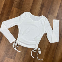In No Ruche Knit Top - White
