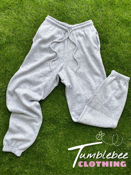 90's Oversized Fleece Sweatpants - Heather Grey