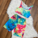 To Tie Dye For Biker Short Set