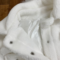 Sweet Like Sugar Button Front Fuzzy Coat