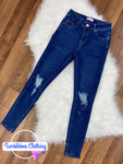 Need More Distressed Skinny Jeans - Medium Blue