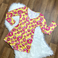 Donut Bother Me Onesie - Yellow