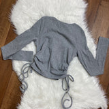 In No Ruche Knit Top - Grey
