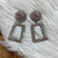 Money Moves Statement Earrings - Silver